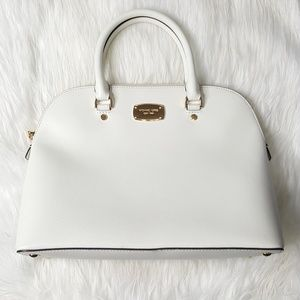 NWOT Michael Kors White Dome Satchel Bag